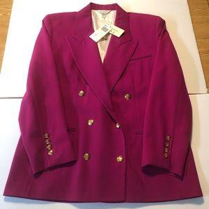 Austin Reed Dartmouth Wool Blazer in Raspberry